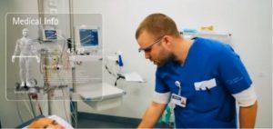 Billede fra video om google glass