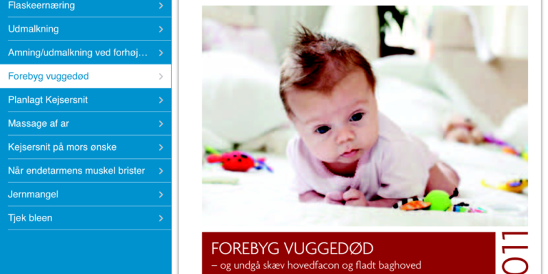 Screenshot fra Mit Sygehus App