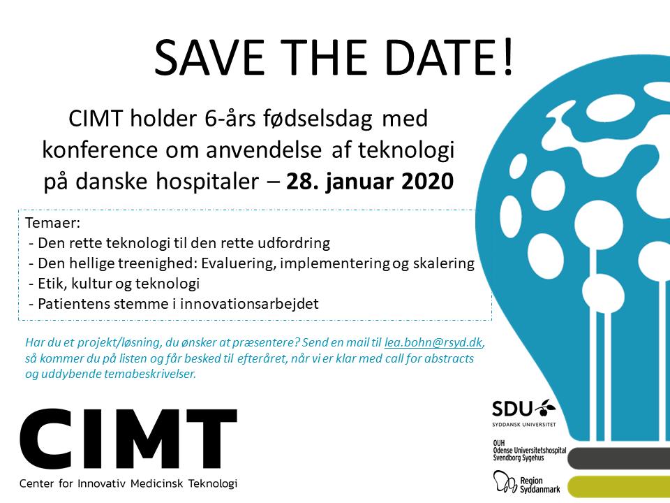 Save the date - CIMT fødselsdag