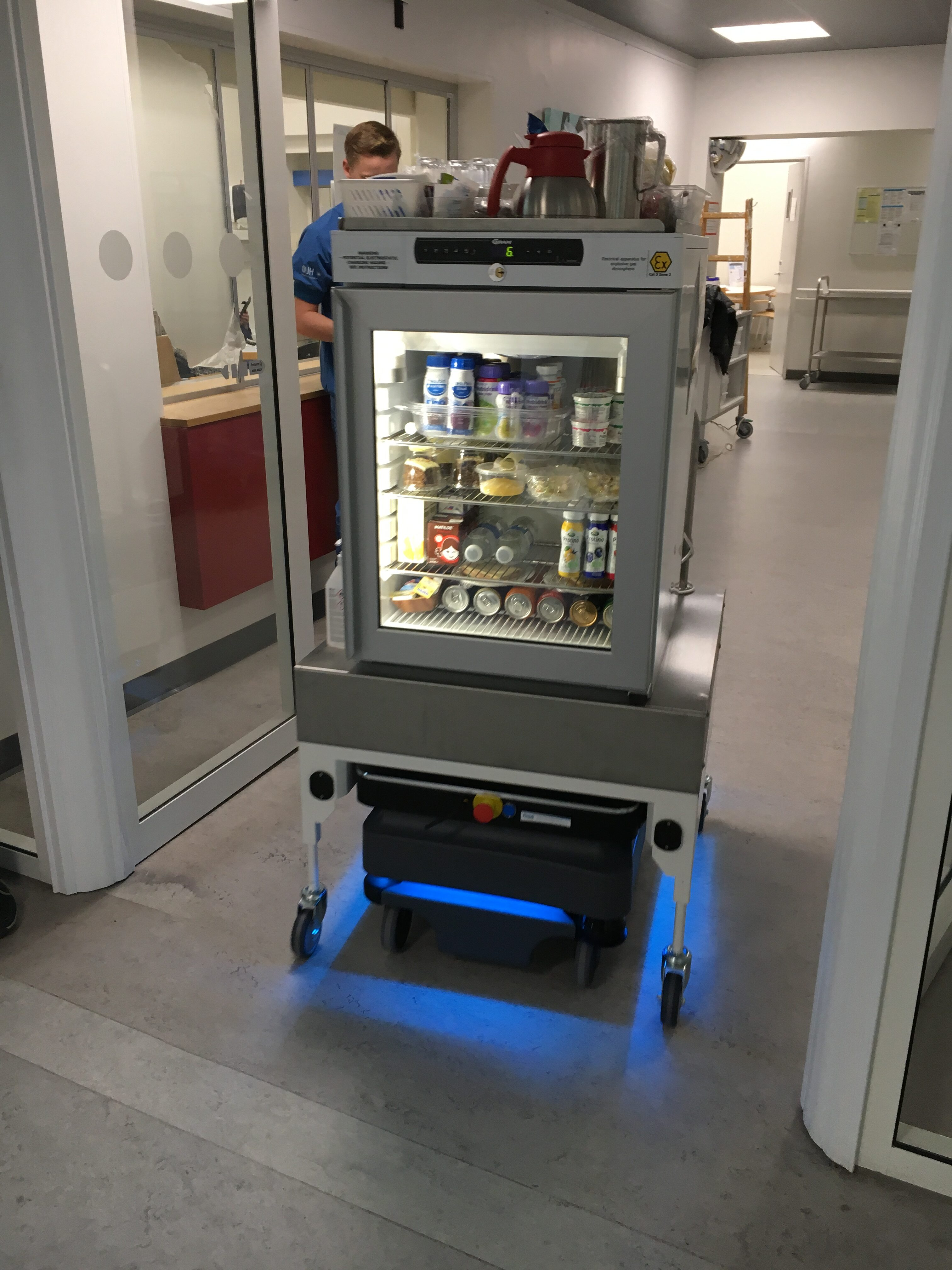 Roberta – robot cart for in-between meals at department A at Svendborg Hospital
